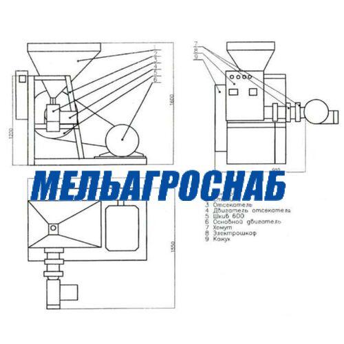 МЕЛЬНИЧНО-ЭЛЕВАТОРНОЕ ОБОРУДОВАНИЕ- Экструдер зерновой ЭКЗ-200