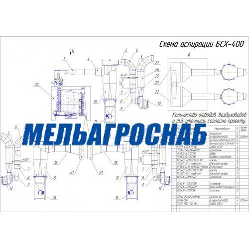 МЕЛЬНИЧНО-ЭЛЕВАТОРНОЕ ОБОРУДОВАНИЕ - Сепаратор БСХ-400