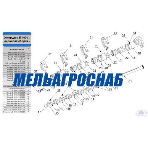 МЕЛЬНИЧНО-ЭЛЕВАТОРНОЕ ОБОРУДОВАНИЕ - Экструдер Е-1000