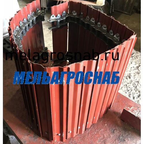 МЕЛЬНИЧНО-ЭЛЕВАТОРНОЕ ОБОРУДОВАНИЕ - Лента нажимного транспортера на 36 и 28 пластин к дробилке КДУ