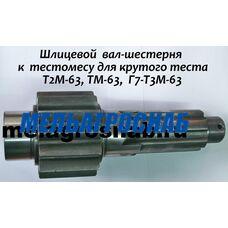 Шлицевой вал-шестерня для тестомеса ТМ-63, Т2М-63, Г7-Т3М-63